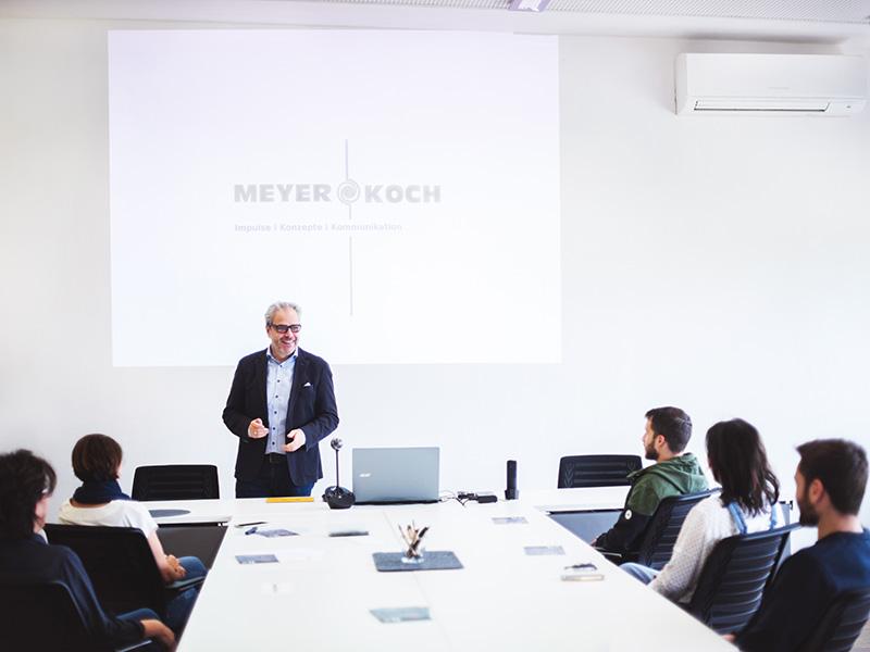 Vortraege mit Meyer und Koch